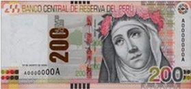 200 Soles Geldschein Peru