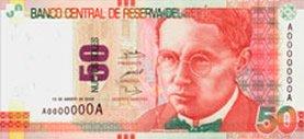 50 Soles Geldschein Peru