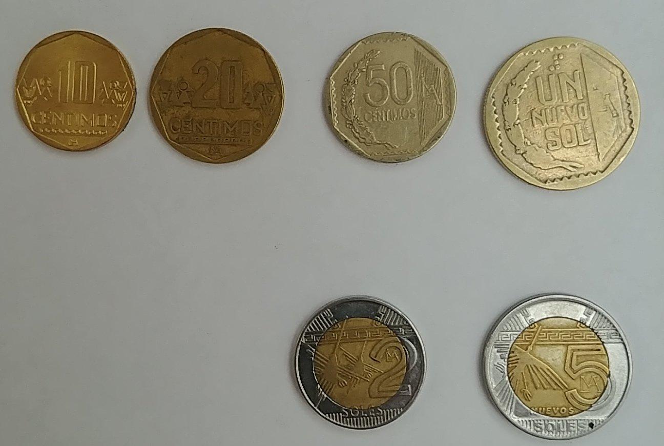 Aktuelle peruanische Münzen