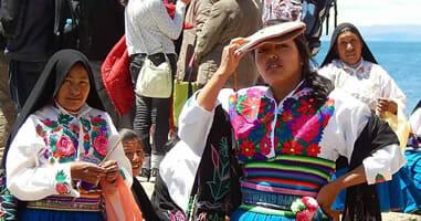 Einwohner Amantani Titicaca See