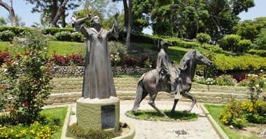 Lima Peru Barranco Statue
