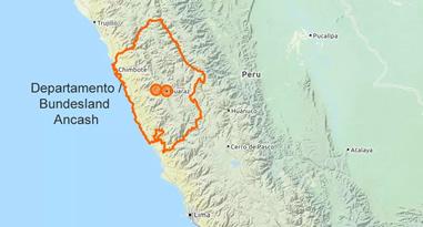 Ancash Peru Karte
