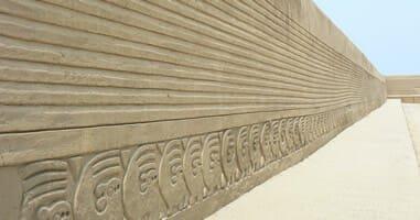 Chan Chan  Zitadelle aus Lehm errichtet und Kulturerbe