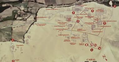Karte von Caral