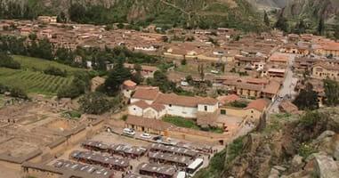 Blick auf Ollantaytambo