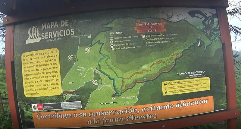 Mapa de Servicios Reserva Nacional de Lachay