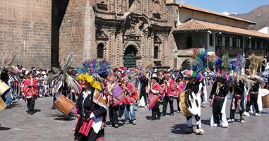 Fest der Sonne am Plaza de Armas