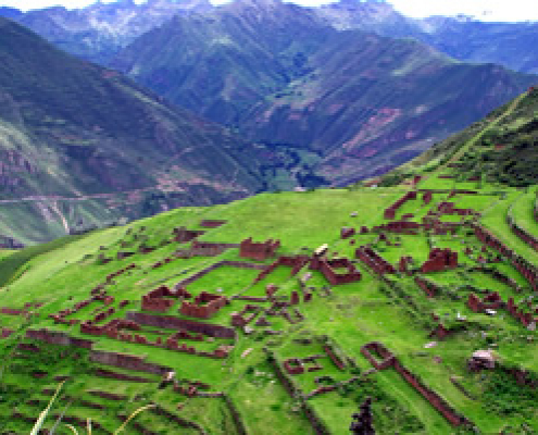 Huchuy Qosqo Klein Cusco oder Qaqyaqawana