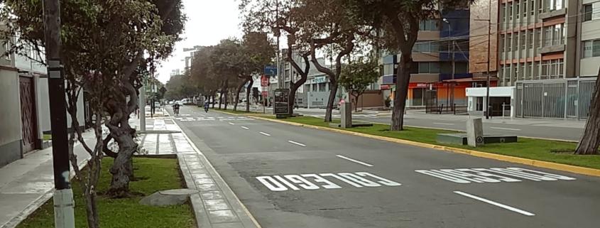 Leere Strassen in Lima